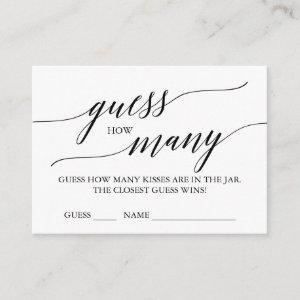 Elegant Calligraphy Guess How Many Kisses Cards starting at 0.35