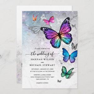 Elegant Colorful Butterfly Wedding Invitation starting at 2.82