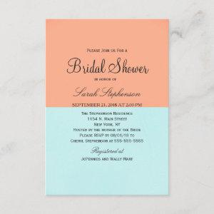 Elegant Coral and Mint Green Two Tone Color Split starting at 2.16