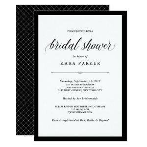 Elegant Couture | Black and White Bridal Shower Invitation starting at 2.26