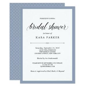 Elegant Couture | Dusty Blue Bridal Shower Invitation starting at 2.51