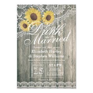 Elegant EAT Drink & Be Married Wedding Invitations starting at 1.95