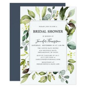 Elegant Eucalyptus with Greenery Bridal Shower Invitation starting at 2.66