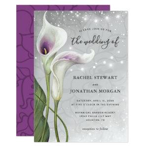 Elegant Floral Greenery Picasso Calla Lily Wedding Invitation starting at 2.82