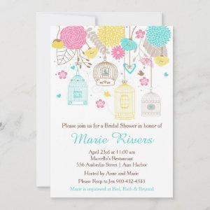 Elegant Floral Yellow and Pink Bridal Shower Invitation starting at 2.66