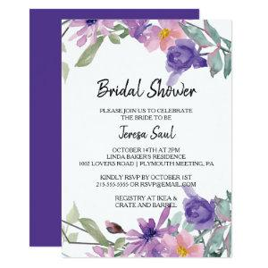 Elegant Geometric Floral Bridal Shower Invitation starting at 2.51