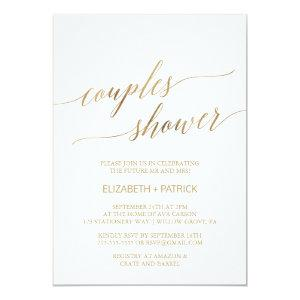 Elegant Gold Calligraphy Couples Shower Invitation starting at 2.51