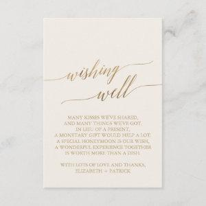 Elegant Gold Calligraphy   Ivory Wishing Well Enclosure Card starting at 1.91