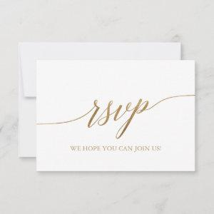 Elegant Gold Calligraphy Simple RSVP Card starting at 2.01