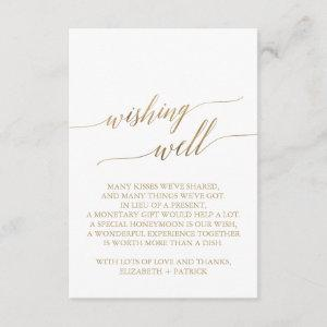 Elegant Gold Calligraphy Wishing Well Enclosure Card starting at 1.91