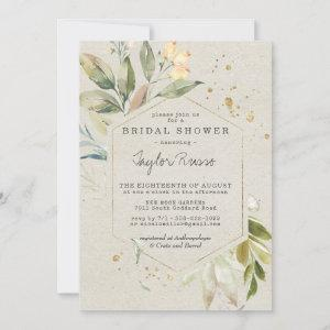 Elegant Greenery Gold Bridal Shower Invitation starting at 2.46