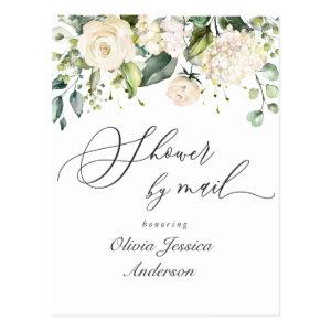 Elegant Hydrangea Roses Bridal Shower By Mail Postcard starting at 1.20