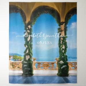 Elegant Italy Wedding Arches Photo Booth Backdrop starting at 66.92
