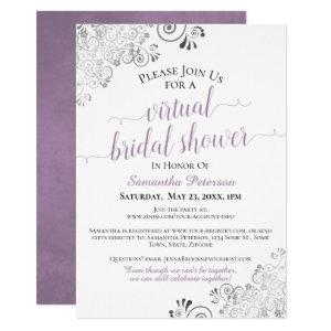Elegant Lavender Gray White Virtual Bridal Shower Invitation starting at 2.35