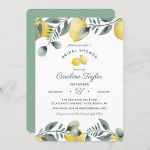 Elegant Lemons Watercolor Greenery Bridal Shower Invitation starting at 2.75