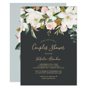 Elegant Magnolia | Black and White Couples Shower Invitation starting at 2.51
