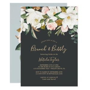 Elegant Magnolia | Black & White Brunch and Bubbly Invitation starting at 2.51
