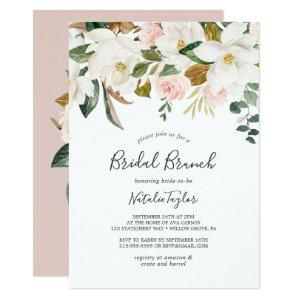 Elegant Magnolia | White and Blush Bridal Brunch Invitation starting at 2.26