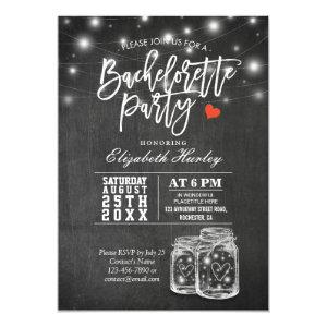 Elegant Mason Jar String Lights Bachelorette Party Invitation starting at 2.40