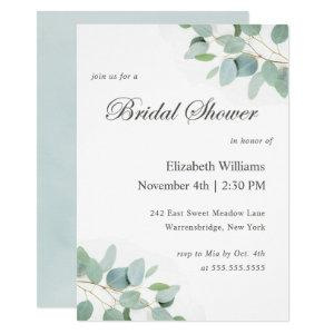 Elegant Modern Eucalyptus Bridal Shower Invitation starting at 2.15