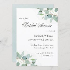 Elegant Modern Eucalyptus Bridal Shower Invitation starting at 2.40