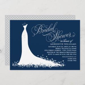 Elegant Navy and Silver Gown Bridal Shower starting at 2.51