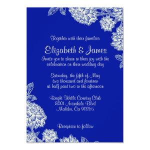 Elegant Navy Blue Wedding Invitations starting at 2.66