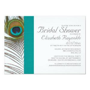 Elegant Peacock Feather Bridal Shower Invitations starting at 2.66