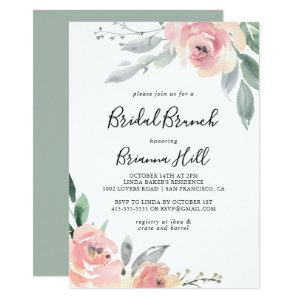 Elegant Pink Blush Bridal Brunch Bridal Shower Invitation starting at 2.51
