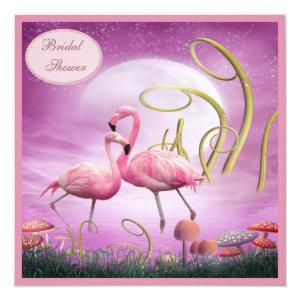 Elegant Pink Flamingos Bridal Shower Invitation starting at 2.51
