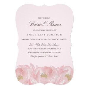 Elegant Pink Peony Bridal Shower Invitation starting at 2.50