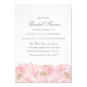 Elegant Pink Peony Bridal Shower Invitation starting at 2.25