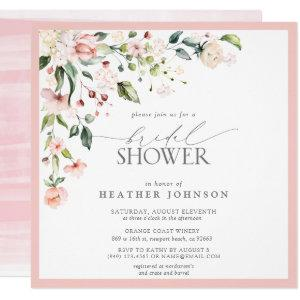 Elegant Pink Watercolor Floral Bridal Shower Invitation starting at 2.30
