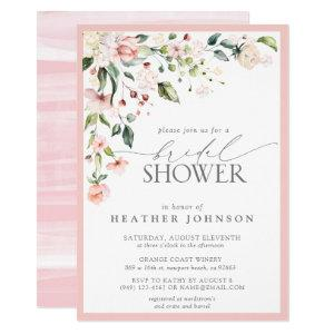 Elegant Pink Watercolor Floral Bridal Shower Invitation starting at 2.15