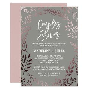 Elegant Rose Gold and Gray Couples Shower Invitation starting at 2.51