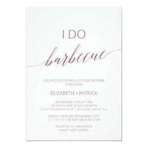 Elegant Rose Gold Calligraphy I Do Barbecue Invitation starting at 2.51