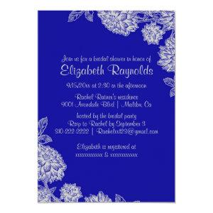 Elegant Royal Blue Bridal Shower Invitations starting at 2.66