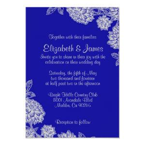 Elegant Royal Blue Wedding Invitations starting at 2.66