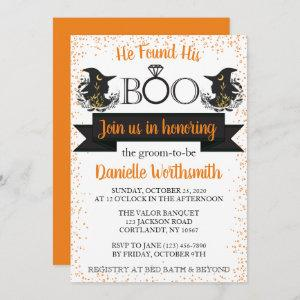 Elegant Sparkle Boo Halloween Witch Bridal Shower starting at 2.61