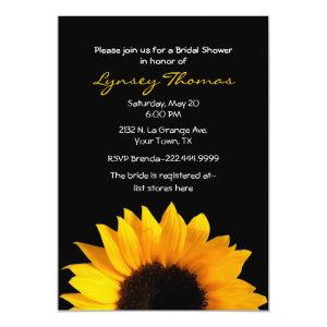 Elegant Sunflower Custom Bridal Shower Invitation starting at 2.66
