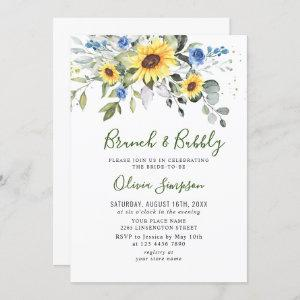 Elegant Sunflowers Eucalyptus Brunch & Bubbly Invitation starting at 2.35