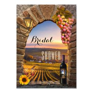 Elegant Vineyard Wine Bridal Shower Invitation starting at 2.55