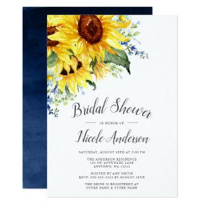 Elegant Watercolor Sunflowers Bridal Shower Invitation starting at 2.51