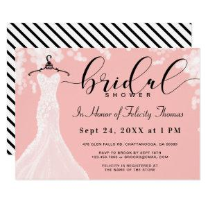 Elegant Wedding Dress Bridal Shower Invitation starting at 2.55