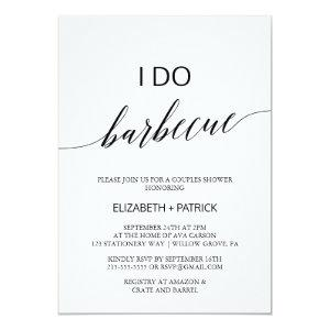 Elegant White and Black Calligraphy I Do Barbecue Invitation starting at 2.51