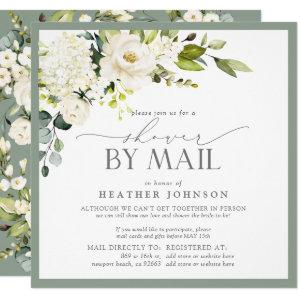 Elegant White Floral Watercolor Bridal Shower Mail Invitation starting at 2.30
