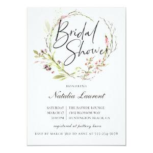 Elegant Wildflower Wreath Bridal Shower Invitation starting at 2.51
