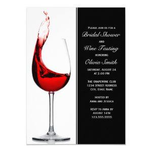 Elegant Wine Glass Bridal Shower Invitations starting at 2.20