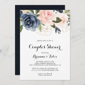 Elegant Winter Floral Calligraphy Couples Shower Invitation starting at 2.51