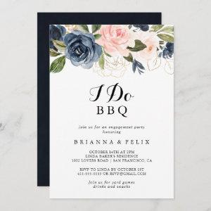 Elegant Winter Floral I Do BBQ Engagement Party Invitation starting at 2.51